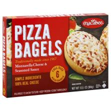 Macabee Pizza Bagels, Mozzarella Cheese & Seasoned Sauce