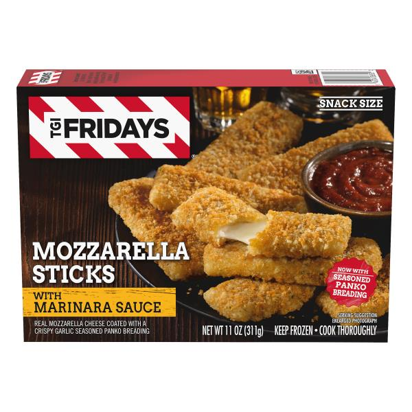 TGI Fridays Mozzarella Sticks, with Marinara Sauce, Snack Size