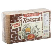 Royal Sire Toasts, Whole Wheat, Family Pack