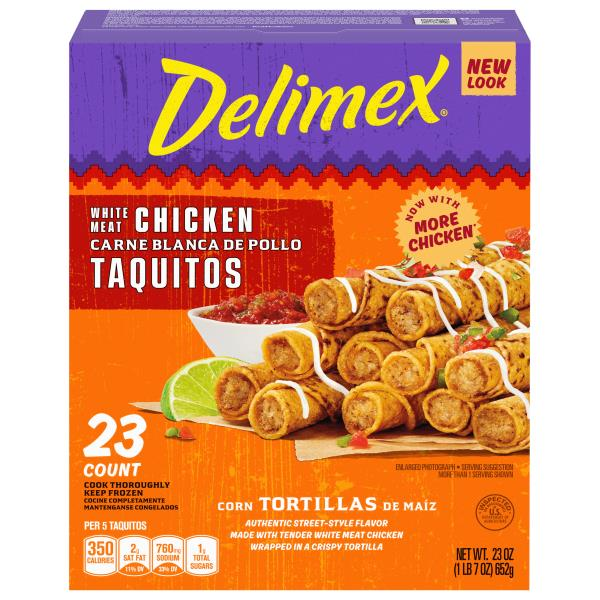 Delimex Taquitos, White Meat Chicken