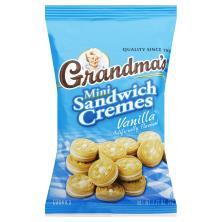 Grandmas Cookies, Sandwich Cremes, Mini, Vanilla