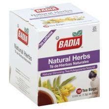 Badia Tea, Natural Herbs, No Caffeine, Bags