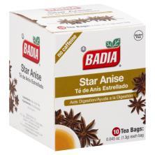Badia Tea, Star Anise, No Caffeine, Bags