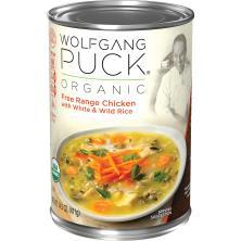 Wolfgang Puck Soup, Organic, Free Range Chicken with White & Wild Rice
