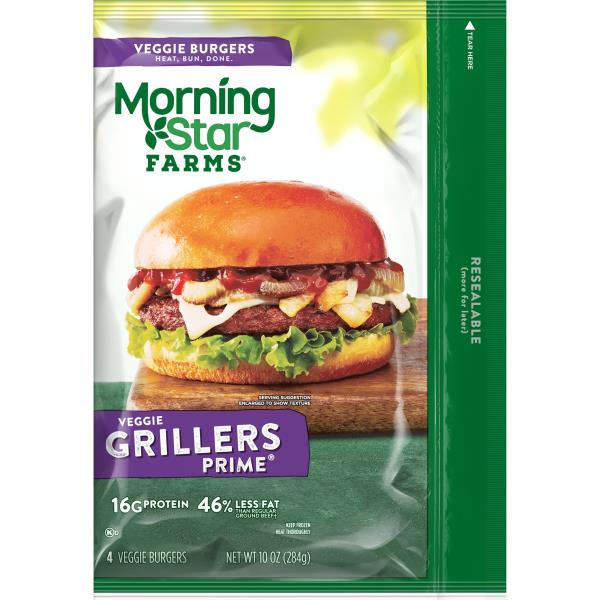MorningStar Farms Burgers, Veggie, Grillers Prime