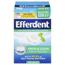 Efferdent Denture Cleanser, Anti-Bacterial, Tablets, Plus Mint, Value Pack