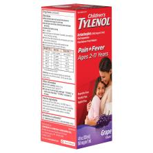 Tylenol Children's Pain & Fever, Oral Suspension, Grape Flavor