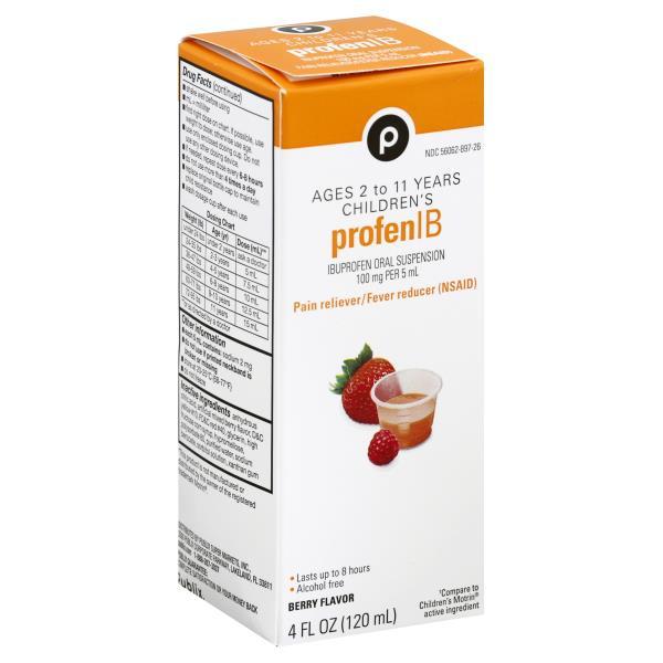 Publix Profen IB, Children's, Oral Suspension, Berry Flavor