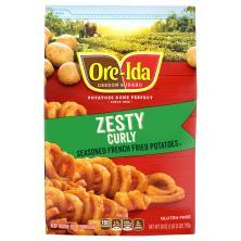 Ore Ida Bold & Crispy Fries, Curly, Zesty Seasoned