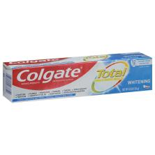 Colgate Total Toothpaste, Anticavity Fluoride and Antigingivitis, Whitening, Paste