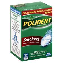 Polident Smokers Denture Cleanser, Antibacterial, Triple Mint Freshness