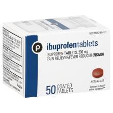 Publix Ibuprofen, USP, 200 mg, Coated Tablets
