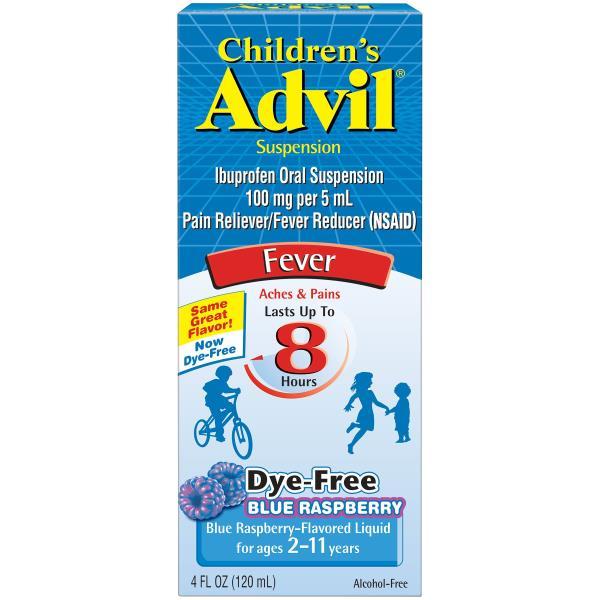 Advil Fever, Children's, Suspension, Blue Raspberry!