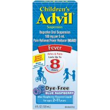 Advil Fever, Children's, Suspension, Blue Raspberry!