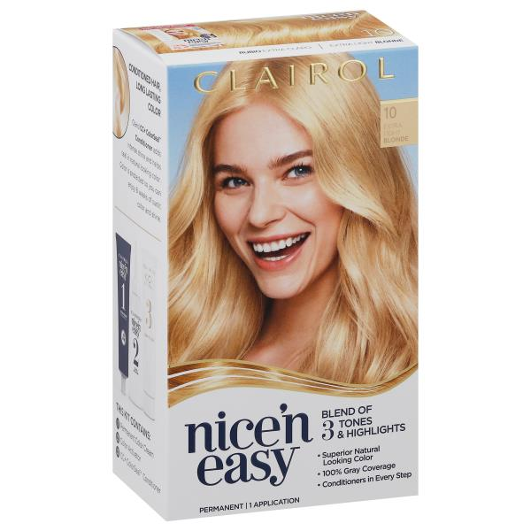 Nice N Easy Permanent Color Extra Light Blonde 10 Publix