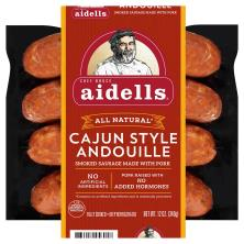 Aidells Aidells All Natural Smoked Pork Sausages, Cajun Style Andouille, 12 oz.