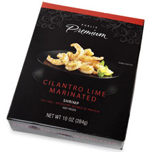 Publix Premium Marinated Shrimp, Cilantro-Lime, Frozen, Farm Raised