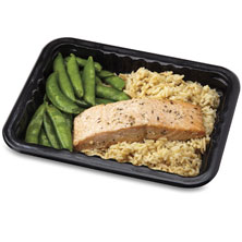 Publix Premium Soy Ginger Salmon, with Rice & Snap Peas, Microwave, Ready in Minutes