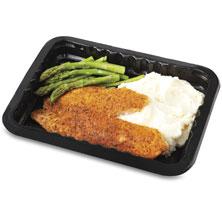 Publix Premium Blackened Tilapia, with Mashed Potatoes & Asparugus,Microwave