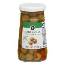 Publix Olives, Thrown Spanish, Manzanilla