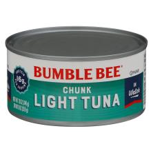 Bumble Bee Tuna, Chunk Light, in Water