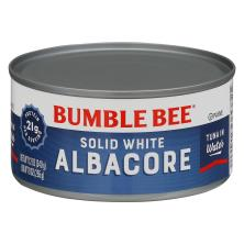 Bumble Bee Tuna, Solid White Albacore, in Water