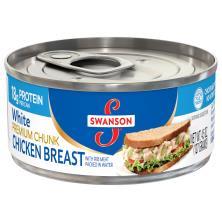 Swanson Chicken Breast, White, Premium Chunk