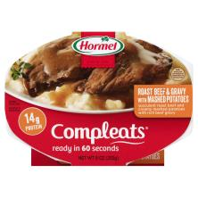 Hormel Compleats Roast Beef & Gravy, with Mashed Potatoes