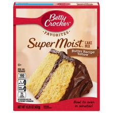 Betty Crocker Super Moist Cake Mix, Butter Recipe Yellow
