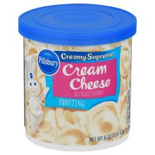 Pillsbury Creamy Supreme Frosting, Cream Cheese