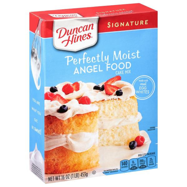Duncan Hines Angel Food Cake Mix Nutrition Information