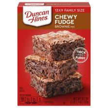 Duncan Hines Brownie Mix, Chewy Fudge Brownies, 13 x 9 Family Size