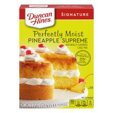 Duncan Hines Signature Cake Mix, Deliciously Moist, Pineapple Supreme
