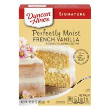 Duncan Hines Signature Cake Mix, French Vanilla