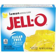 Jell O Gelatin Dessert, Low Calorie, Sugar Free, Lemon