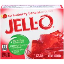 Jell O Gelatin Dessert, Strawberry Banana