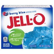 Jell O Gelatin Dessert, Berry Blue