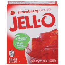 Jell O Gelatin Dessert, Strawberry