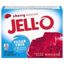 Jell O Gelatin Dessert, Low Calorie, Sugar Free, Cherry