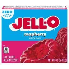 Jell O Gelatin Dessert, Low Calorie, Sugar Free, Raspberry