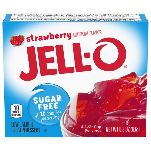 Jell O Gelatin Dessert, Low Calorie, Strawberry