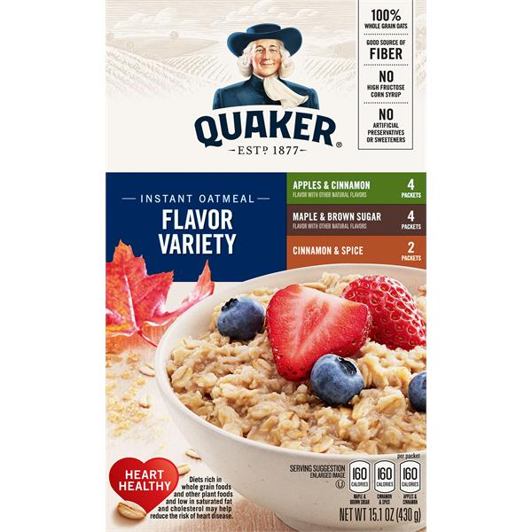Quaker Instant Oatmeal, Flavor Variety