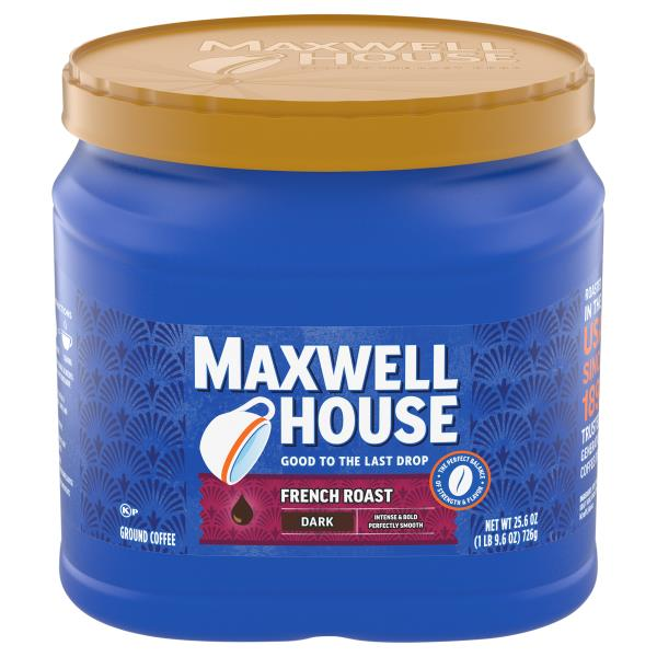 image regarding Maxwell House Printable Coupons named Maxwell Space Espresso, Floor, Darkish, French Roast :