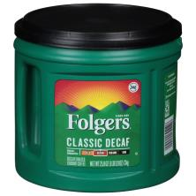 Folgers Coffee, Ground, Medium, Classic Decaf