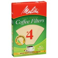 Melitta Coffee Filters, Cone, Natural Brown, No. 4