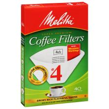 Melitta Coffee Filters, Cone, No. 4