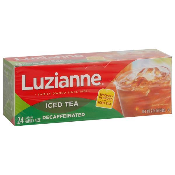 Luzianne Iced Tea, Decaffeinated, Bags, Family Size