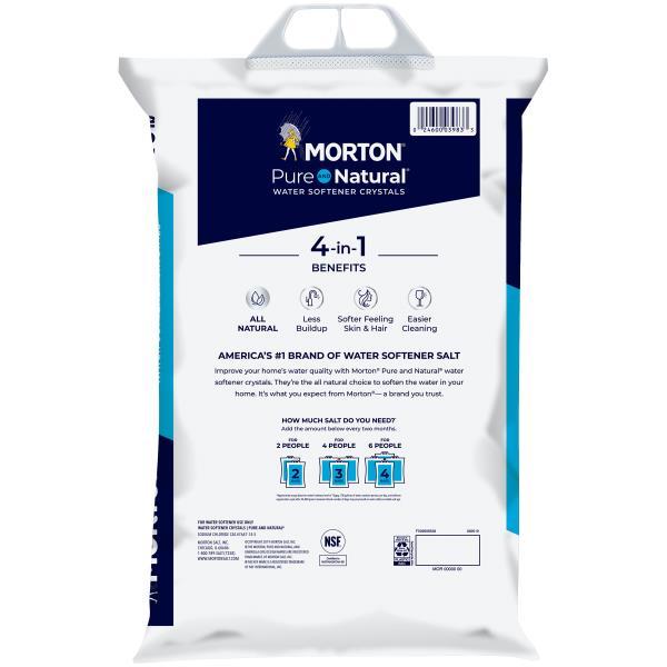 Morton Pure and Natural Water Softener Crystals : Publix com