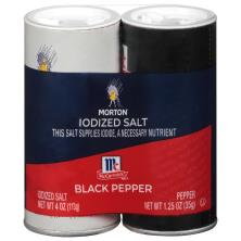 Morton Salt & Pepper, Iodized