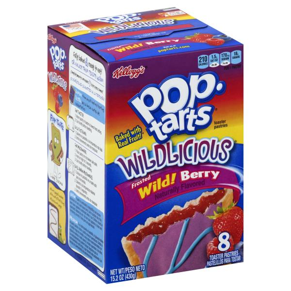 Pop Tarts Wildlicious Toaster Pastries, Frosted, Wild! Berry